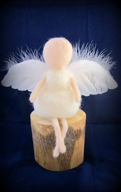 Baby Angel - Needle Felted Doll by Tamara Levi of Israel.