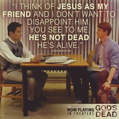 God's Not Dead - Paul Kwo as (Martin Yip) & Shane Harper as (Josh Wheaton). I absolutely loved this moment. wow