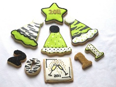 New Year's Eve cookies