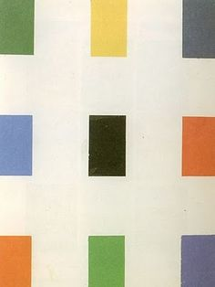 Ellsworth kelly Nueve colores sobre blanco, 1963