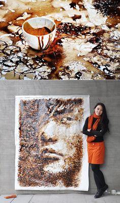 Red Hong's Coffee Cup Ring Drawings | Man Made DIY | Crafts for Men | Keywords: art, coffee, drawing, hong