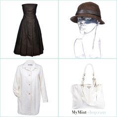 FRIDAY´S NEW ARRIVALS! Kleid: #SalvatoreFerragamo Hut: #Gucci Mantel: #JilSander Tasche: #Prada #Fashion #Vintage #style