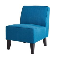 Add a stylishly modern touch to any room with the enchanting design of this linen chair. The blue linen upholstery completes the chair with a soft and luxurious feel.