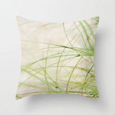 Pillow Cover Beach Grass Photo Pillow Lime by KalstekPhotography, $36.00