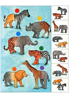 Задания на внимание и логику. Зоопарк