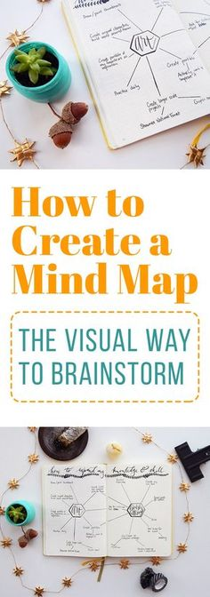 How to Create a Mind Map - The Visual Way to Brainstorm Sometimes there's too much or too little information in your head to get anything done. Create a mind map and inspire a new perspective on brainstorming! Journal Layout, Journal Prompts, Journal Ideas, Mental Maps, Organisation Journal, 6 Sigma, Startup, Time Management Tips, Bujo