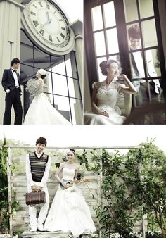 Fresh vintage prewedding photos