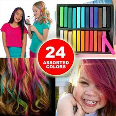 Check Out The Latest In Hair Trends   The Newest Way To Try A New Hair  Style Without Any Worry! With Hair Chalk You Can Draw On Colored Streaks Or  Dip Dyed ...