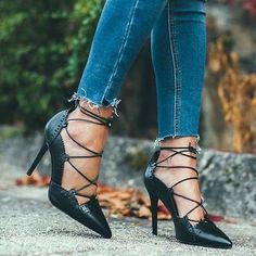 Zara Black Leather Perforated Lace Up High Heel Court Shoes 36 37 40 Lace Up High Heels, Leather High Heels, Leather And Lace, Black Leather, Zara Heels, Shoes Heels, Mid Heel Ankle Boots, Shiny Shoes, Beautiful High Heels
