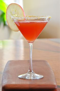 Thanksgiving Margarita: Cranberry and Apple Cider.  It's called a TG Margarita but the colors work for Christmas, too!