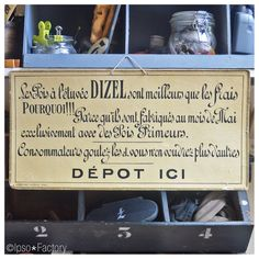 Ipso Factory — Rare Carton Publicitaire de Magasin Années 20