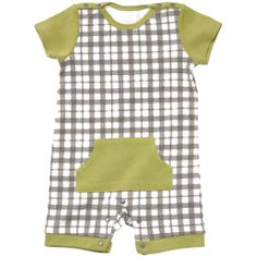I love the Playful Plaid Little Rebel Romper  6-9 months Layette I found on Petunia.com