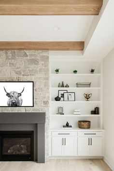 Home Fireplace, Room Remodeling, Cheap Home Decor, Home Living Room, Home Remodeling, House, House Interior, Living Spaces, Fireplace Built Ins