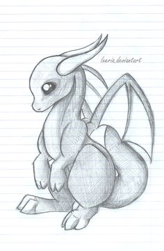 Baby Dragon sketch by Ixeria
