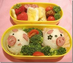 Bento is a single-portion takeout or home-packed meal common in Japanese cuisine. A traditional bento consists of rice, fish or meat, and one or more pickled or cooked vegetables as a side dish. Cute Bento Boxes, Bento Box Lunch, Bento Food, Box Lunches, Lunch Boxes, Bento Recipes, Lunch Box Recipes, Lunch Ideas, Bento Ideas