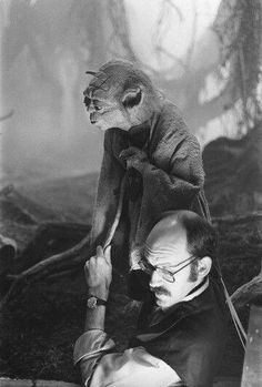 Frank Oz & Yoda --- not quite the Muppets but it's an honorable mention Jim Henson, Hereford, Frank Oz Yoda, Movies And Series, Tv Series, Fraggle Rock, Marionette, The Force Is Strong, The Empire Strikes Back