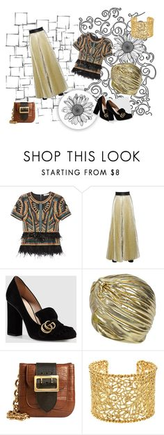 Art Nouveau by magyar-fruzsina on Polyvore featuring BCBGMAXAZRIA, Emanuel Ungaro, Gucci, Burberry, Brooks Brothers, Boohoo and Arteriors