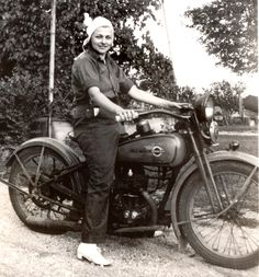 Mary Gundrum liked to be in the driver's seat, but only if it was on a motorcycle. She started doing her riding back in the 1930s, when she was often the only woman riding with local clubs. She kept riding after marriage and motherhood, and through the 1950s. Her unusual collection of photos is now in the Harley-Davidson Museum archives.