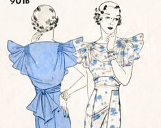 Vintage Sewing Pattern 1930s 30s sleeve set by LadyMarloweStudios