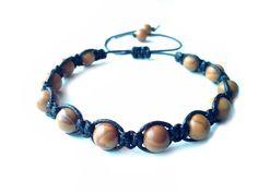 men's shamballa beaded bracelet handmade jewelry gift GRAIN JASPER macrame beads #Handmade #Shamballa #FormalandCasual