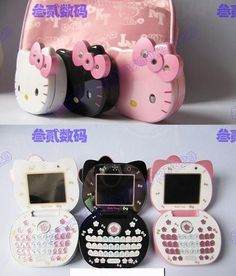 Sanrio Hello Kitty Phones in Light Pink, Pink & White, Pink & Black