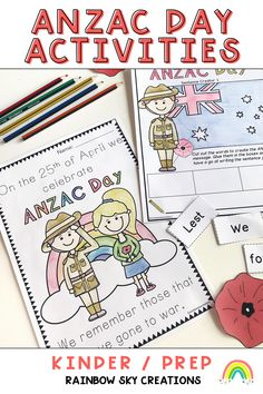 Literacy and Numeracy based tasks about ANZAC Day that are perfect for group work or as whole class activities. Poppies included that can be worn to a school ANZAC ceremony as well as reflection tasks and pieces of work that can be used as classroom displays. Teaching Resources, Teaching Ideas, Literacy And Numeracy, Rainbow Sky, Anzac Day, Australian Curriculum, Remembrance Day, Class Activities, Group Work