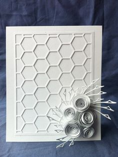 White on white card blanco blanc van Bermarc op Etsy, €9.95