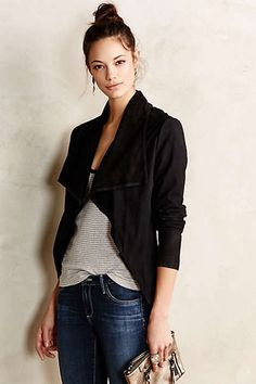 Cole Suede Waterfall Jacket