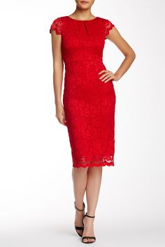 911390a79ab Exposed Zipper Lace Sheath Dress by ABS by Allen Schwartz on   nordstrom rack Church Fashion