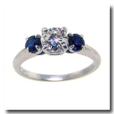 Inv. #16383  Shreve Crump and Low Diamond and Sapphire Ring Plat. c1940s. Lawrence Jeffrey Estate Jewelers