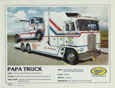Tyrone Malone's Papa Truck for the Super Boss Kenworth Cool Trucks, Big Trucks, Pickup Trucks, Old Race Cars, Us Cars, Kenworth Trucks, Chevrolet Trucks, Truck Tyres, Plastic Model Cars