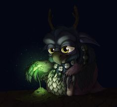 World of Warcraft Moonkin Hatchling fan art. I have this companion in wow and its soooooo cute!