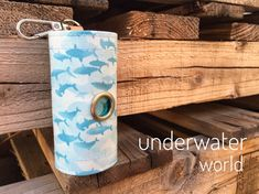 Dog Poop bags dispenser /waste bag holder Underwater World by QTPET on Etsy Fusible Interfacing, Cat Hair, Butterfly Flowers, Underwater World, New Puppy, Dog Harness, Your Dog, Dogs, Fabric