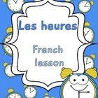 This is the fifth unit of the French Elementary lessons. It includes: - Two worksheets to explain: les heures, les moments de la journée... - Activ...