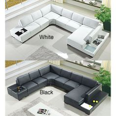 Love this sofa.. white is prettier, black is more practical...