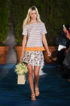 Tory Burch was inspired by the French Riviera in the 1960s for her Spring 2014 collection