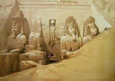 Temple d'Abou Simbel, David Roberts, 1838.