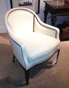 uber chic Avondale chair from new Hartwood collection @Hickory Chair - love the #exposed #wood #detail #hpmkt J Banks Design Group favorite