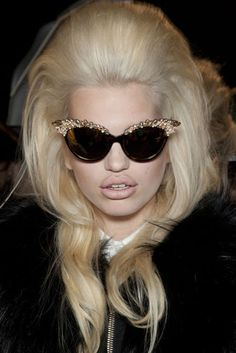 because over the top is for boring people. #embellished #cateye #sunglasses