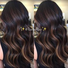 71 most popular ideas for blonde ombre hair color - Hairstyles Trends Brown Hair Balayage, Hair Highlights, Bayalage Black Hair, Hair Color And Cut, Ombre Hair Color, Hair Painting, Brunette Hair, Dark Hair, Hair Inspiration