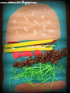 hamburger crafts for kids