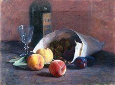 Elin Kleopatra Danielson-Gambogi (Finnish painter) 1861 - 1919 Asetelma Hedelmillä (Still Life with Fruits), s.d. oil on canvas 30.5 x 41.5 cm