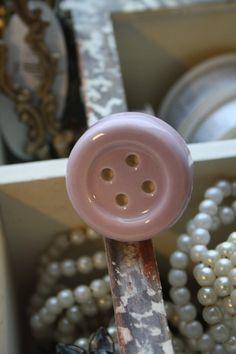 "mooie porseleinen kastknop ""knoop in roze"""