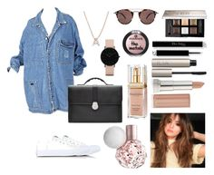 """""""Untitled #443"""" by pattieduraes on Polyvore featuring Smythson, Converse, CLUSE, Bony Levy, Oliver Peoples, Givenchy, Elizabeth Arden, Ilia and Maybelline"""