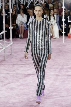 Sequin catsuit at Christian Dior. Photograph: Francois Guillot/AFP/Getty Images