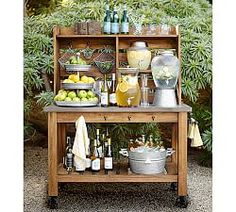 Outdoor Bars U0026 Buffet Tables   Pottery Barn