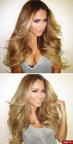 Jessica Burciaga | Perfect hair! #brunette #highlights #ombre