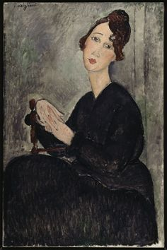 Portrait of Dedie (Odette Hayden), 1918  Amedeo Modigliani  92 x 60 cm, Oil on canvas  Musée National d'Art Moderne, Centre Georges Pompidou, Paris