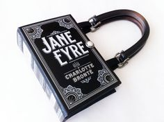 Jane Eyre Book Upcycled Purse made from a book! Charlotte Bronte Collector Gift by NovelCreations on Etsy Book Clutch, Book Purse, Charlotte Bronte, Jane Eyre Book, Leather Bound Books, Unique Purses, Book Lovers Gifts, Purses And Bags, Clutches