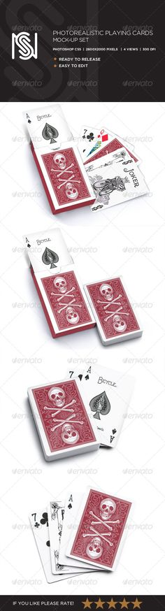 Photorealistic Playing Card Mockup :  Check out this great #graphicriver item 'Photorealistic Playing Card Mockup' http://graphicriver.net/item/photorealistic-playing-card-mockup/6858611?ref=25EGY